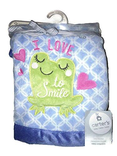 Carter's Embroidered Boa Blanket, Girl Frog