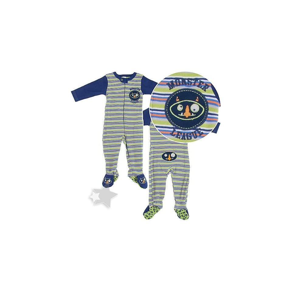 12d5d91657f4 Monster Cotton Footed Sleeper Pajamas for Baby Boys on PopScreen