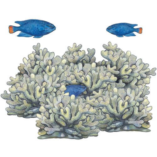 Underwater Blue Coral Reef Wall Sticker Mural (Coral Wall Decals compare prices)
