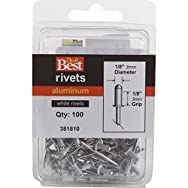 Do it Best Global Sourcing 381810 Do it Best POP Rivets-1/8X1/8 WHT ALUM RIVET