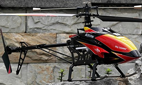 Red and Black Cool Wltoys V913 Large Alloy 70cm 2 4G 4CH RC Remote Control  Helicopter with Gyro by WL Toys