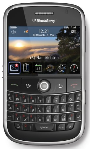 BlackBerry Bold 9000 Smartphone (WLAN, GPS, QWERTZ-Tastatur, Kamera mit 2 MP, MP3-Player) schwarz