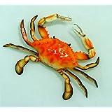 "Hand Painted Crab Beach Tiki Bar Wall Mount Decor 6"" Red"
