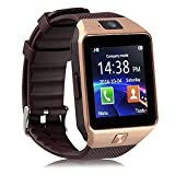 #10: Oppo F1 Plus COMPATIBLE BLUETOOTH Smart Watch Phone With Camera and Sim Card / Memory Cards Support With Apps like Facebook and WhatsApp Touch Screen Multilanguage All Smart Phones Android & Apple iphone Mobile Phone Wrist Watch Phone with activity trackers and fitness band features By Casreen
