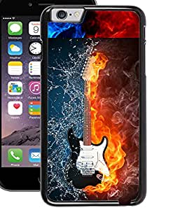 ColourCraft Water and Fire Guitar Design Back Case Cover for APPLE IPHONE 6