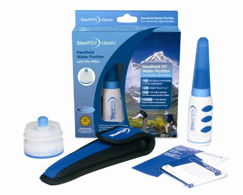 Steripen Classic Pre-Filter Pack Portable UV Water Purifier - White/Blue