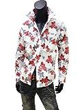 ◆花柄シャドーストライプドレスシャツ◆白X赤・白Xグレー・黒X赤・黒Xグレー◆134030