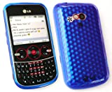 FLASH SUPERSTORE LG GW300 HEXAGON PATTERN GEL SKIN COVER/CASE DARK BLUE