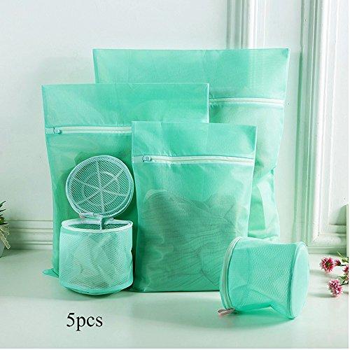 Lingerie Borse per biancheria e delicati, sacchetti lavanderia, confezione da 5