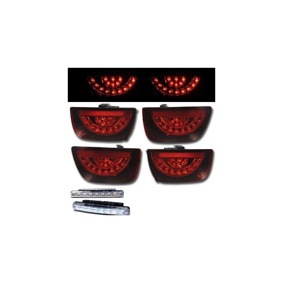 2010 2011 CHEVY CAMARO REAR BRAKE TAIL LIGHTS LAMPS RED LENS+LED BUMPER RUNNING