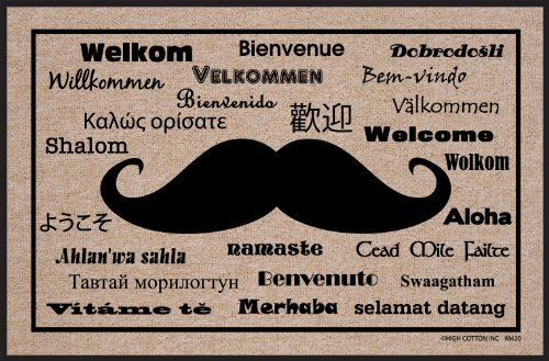 High Cotton Moustache International Doormat