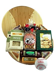 Gift Basket Village GrSl Grand Slam, Baseball Gift with Deluxe Cutting Board
