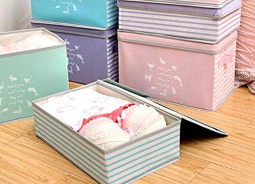 Nonwovens boîte de rangement boîte à gants Box In Box-princess rayure rose