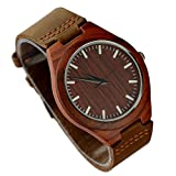 Ideashop® Men's Wooden Watches Creative Gifts Fashion Bamboo Watch With Genuine Cowhide Leather Band Casual Watches