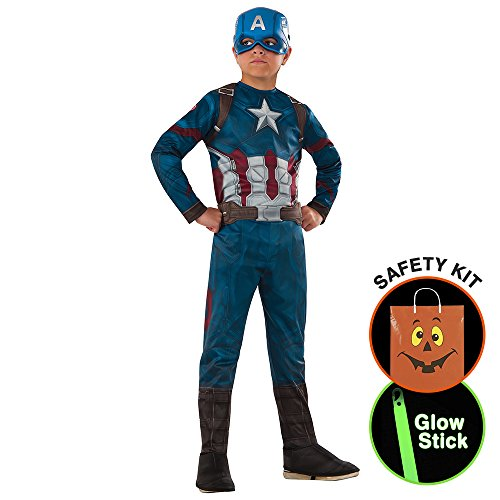 [Marvel's Captain America: Civil War - Bo Halloween Trick or Treat Safety Kit Large] (Trick Or Treat Costumes For Adults)