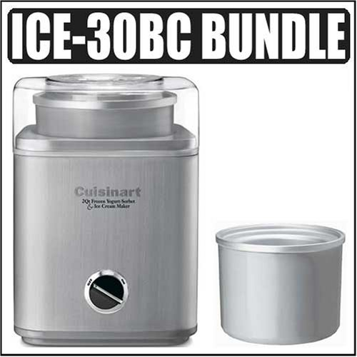 Cuisinart Ice-30bc Pure Indulgence 2-quart Automatic Frozen Yogurt Sorbet and Ice Cream Maker + 2-quart Freezer Bowl