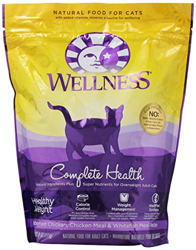 Wellness Dry Cat Food For Adult Cats, Healthy Weight Recipe, 40-Ounce Bag