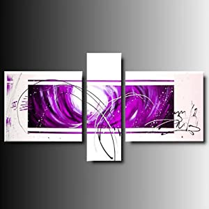 Art mmb vitalita 39 lilla 3 quadri moderni astratti lilla viola bianco nero dipinto a mano su - Dipinti moderni per cucina ...