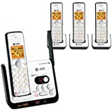AT&T CL82409 DECT 6.0 Cordless Phone, Black/Silver, 4 Handsets