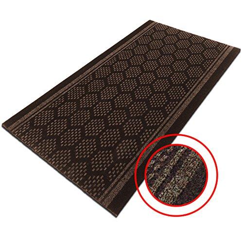 casa-purar-bilbao-heavy-duty-non-slip-runner-mat-brown-decorative-pattern-with-gel-foam-backing-80-x