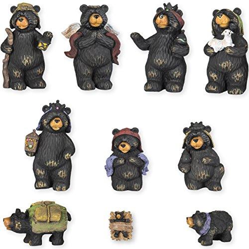 Black Bear Nativity Set 10 Pc Figurine Set Xlarge 7