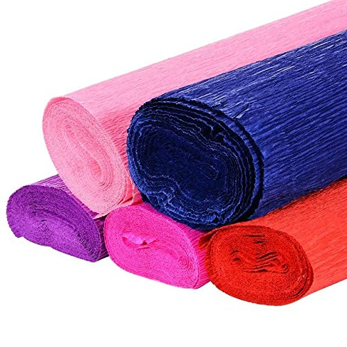 Adeeing 50 x 250CM Solid Crepe Paper Roll for Flower DIY,Gift Wrapping Set (Blue Crepe Paper Sheets compare prices)