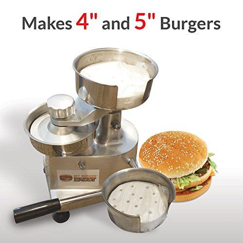 Commercial Hamburger Press Makes 4