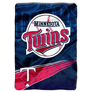 MLB Minnesota Twins Raschel Plush Throw Blanket, Speed Design by Northwest