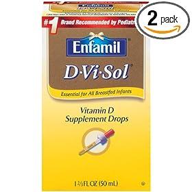 (母婴)美赞臣 Enfamil D-vi-sol, Vitamin D 50ml 婴儿维生素D滴剂2盒S&S $14.52