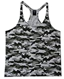 Camo Men's Workout Tank Top Stringer Shirt Gold's Gym 2XLarge Army Green
