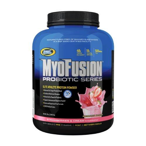 Gaspari Nutrition MyoFusion Probiotic Series 2268 g Strawberries and Cream Protein Shake Powder