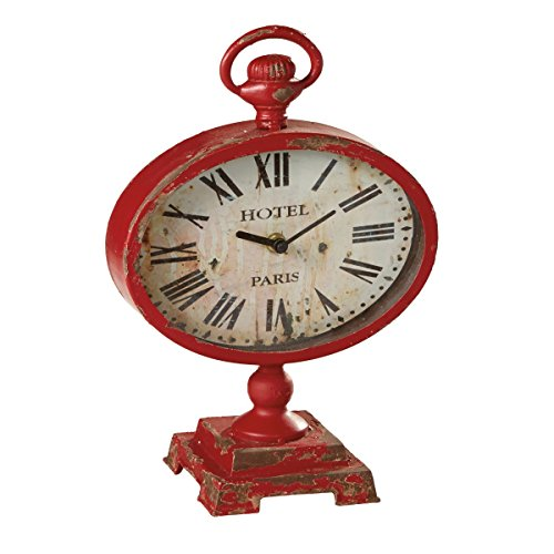 Midwest-CBK Distressed Red Desk Clock