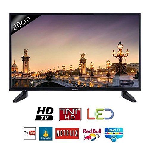 OCEANIC 32s0316b3 Fernseher, HD, 80 cm (31,5 Zoll), LED, Smart-TV, 2 HDMI, Energieklasse A +