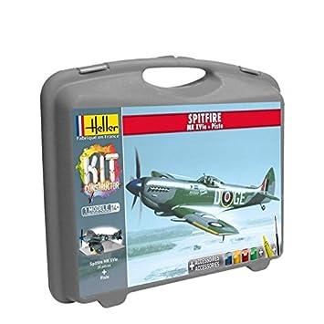Heller - 60282 - Maquette D'aviation - Spitfire Mk. Xvie & Piste - Petite Mallette - 35