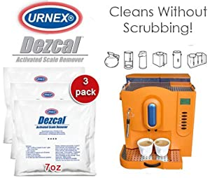Urnex Dezcal Activated Scale Remover 3 Pack - 7oz packet from Urnex