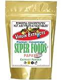 Virgin Extracts (TM) Pure Premium Raw Freeze Dried Organic Papaya Powder Extract Concentrate (4 X Stronger) 16oz Pouch Papaya Powder Papaya Enzyme Powder Superfood