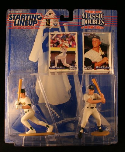 MARK MCGWIRE / OAKLAND A'S & ROGER MARIS / NEW YORK YANKEES 1998 MLB Classic Doubles * Winning Pairs Series * Starting Lineup Action Figures & Exclusive Collector Trading Cards