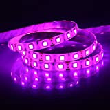 Galaxy Non WaterProof SMD 5050 LED STRIP Lights (5 Meter) + DC 12V Adapter + LED Dimmer / Controller (PINK)