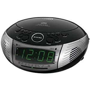 jensen jcr 332 bk am fm dual alarm clock radio with top loading cd player. Black Bedroom Furniture Sets. Home Design Ideas