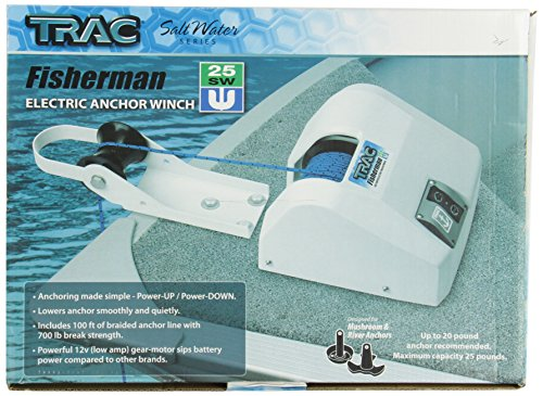 Trac Outdoor T10101-25 Fisherman 25 Saltwater Anchor Winch