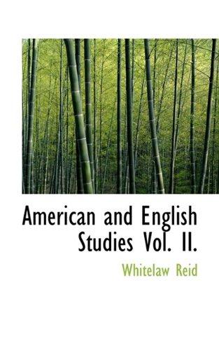 American and English Studies Vol. II.