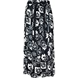 "women's 35"" maxi skirts in cool light weight viscose prints sizes 10 to 24"