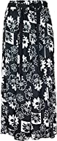 """women's 35"""" maxi skirts in cool light weight viscose prints sizes 10 to 24"""