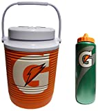 Gatorade 1 Gallon Water Cooler and 32oz Squeeze Water Bottle Hydration Pack