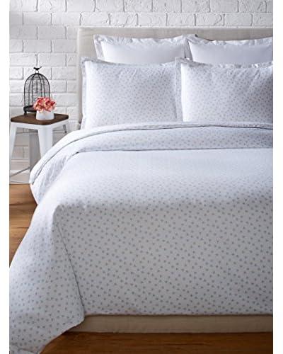 Mélange Home 400 Thread Count 100% Cotton Chic Floral Classic Hemstitch Duvet Set
