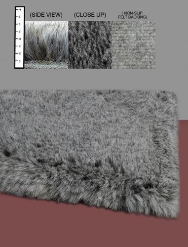 Flokati Faux Fur Rugs 4 x 6 (GREY)