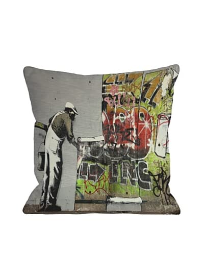Banksy Graffiti Wallpaper Pillow As You See