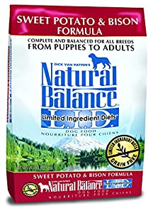 Dick Van Patten's Natural Balance Limited Ingredient Diets Sweet Potato and Bison Formula Dry Dog Food, 26-Pound Bag