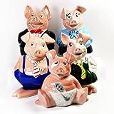 Complete Set of Vintage 1980's Wade Natwest Pigs Piggy Banks