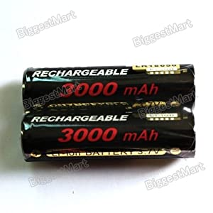 2 Pcs Sony 18650 3000mAh Rechargeable Li-ion 3.7V Batteries